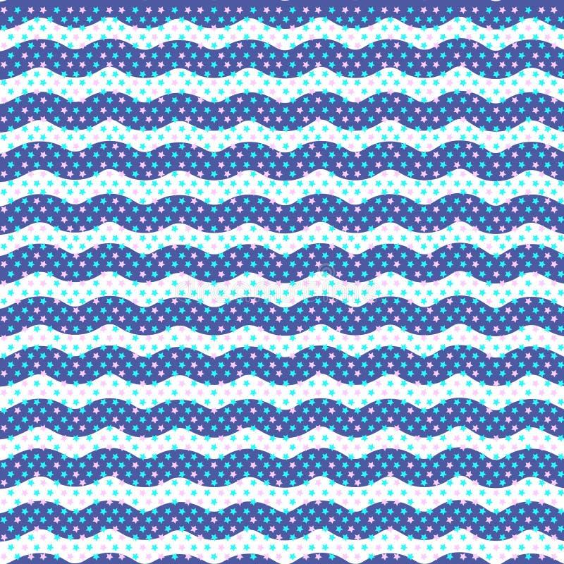 Καφετιά κυματιστή απεικόνιση γραμμών γεωμετρικό πρότυπο Άνευ ραφής ανασκόπηση Αφηρημένη σύσταση για τις ταπετσαρίες Επανάληψη γεω απεικόνιση αποθεμάτων