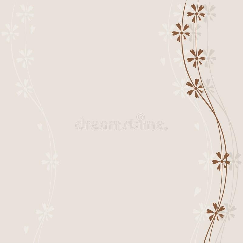 καφετιά λουλούδια απεικόνιση αποθεμάτων