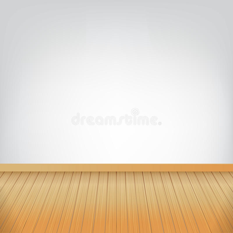 Καφετιά ξύλινη σύσταση πατωμάτων και άσπρα WI αιθουσών υποβάθρου τοίχων κενά απεικόνιση αποθεμάτων