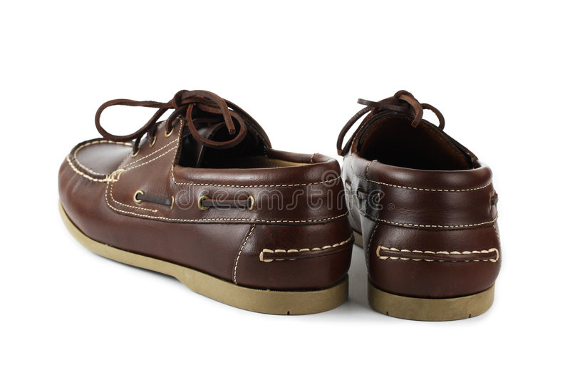 καφετιά παπούτσια στοκ φωτογραφία