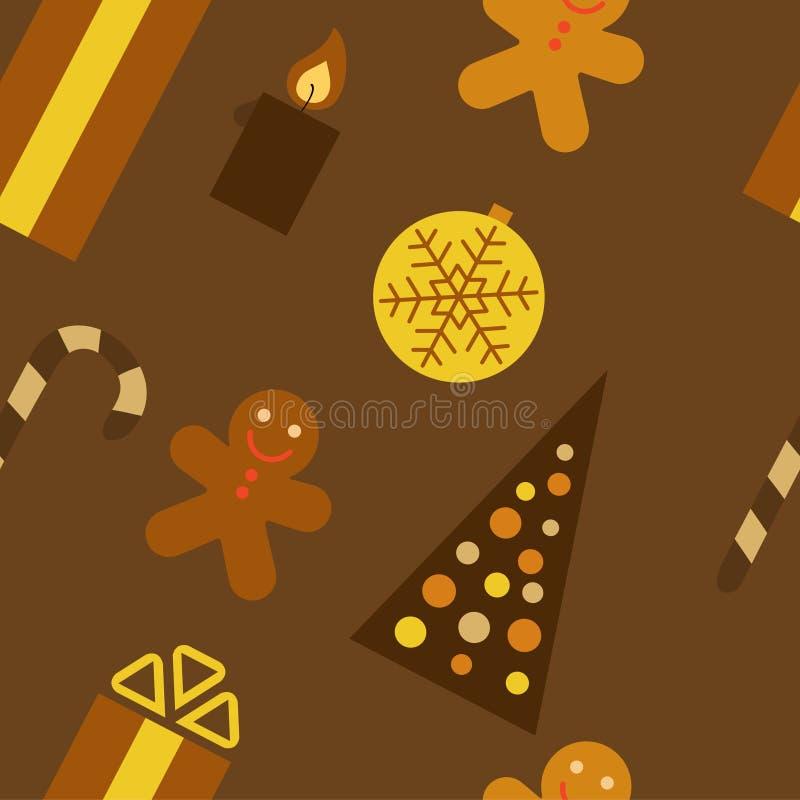 καφετιά Χριστούγεννα ανα& απεικόνιση αποθεμάτων