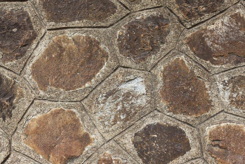 Καφετιές μεγάλες πέτρες παλαιές πετρών τοίχων Κλασσικοί τοίχοι τεκτονικών των μεσαιωνικών κάστρων στην Ευρώπη στοκ εικόνες
