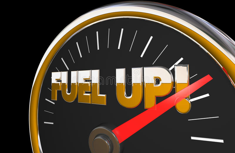 Καύσιμα επάνω στη βελόνα οχημάτων αυτοκινήτων βενζίνης μετρητών αυτοκίνητη ελεύθερη απεικόνιση δικαιώματος