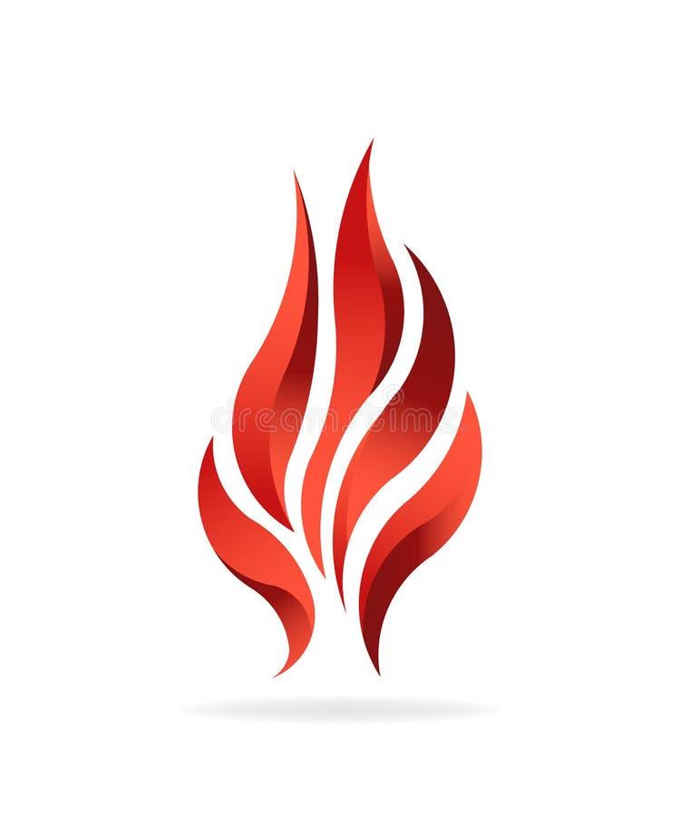 Καύσιμα φλογών πυρκαγιάς Διανυσματικό σχέδιο λογότυπων διανυσματική απεικόνιση