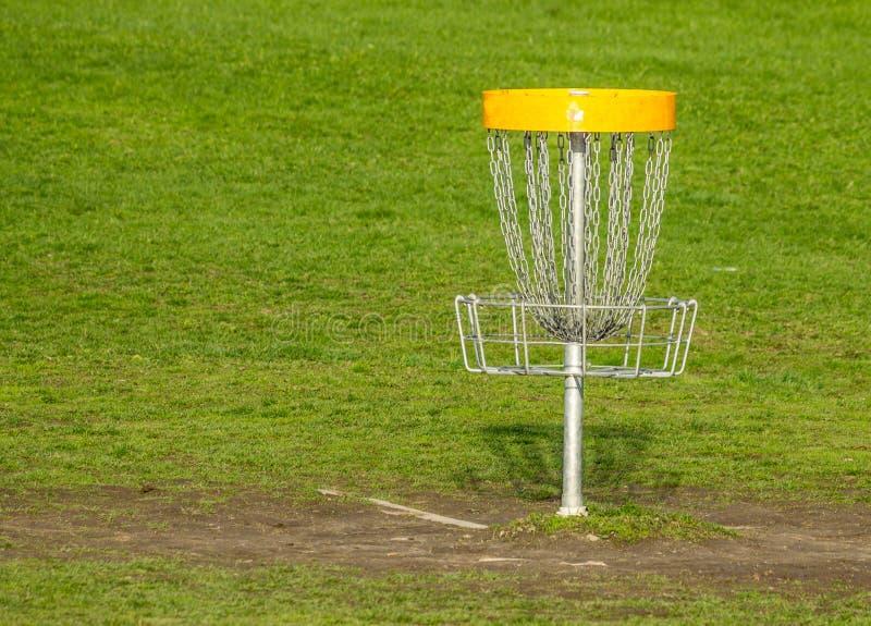 Καλάθι γκολφ Frisbee στοκ φωτογραφία με δικαίωμα ελεύθερης χρήσης