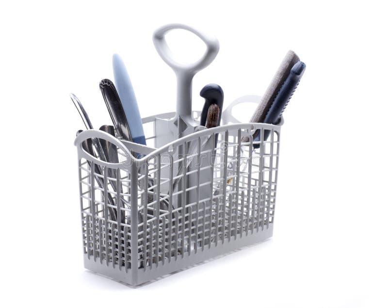 Καλάθι πλυντηρίων πιάτων στοκ εικόνες με δικαίωμα ελεύθερης χρήσης