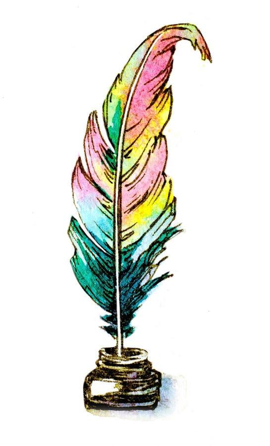 Καλάμι φτερών διανυσματική απεικόνιση