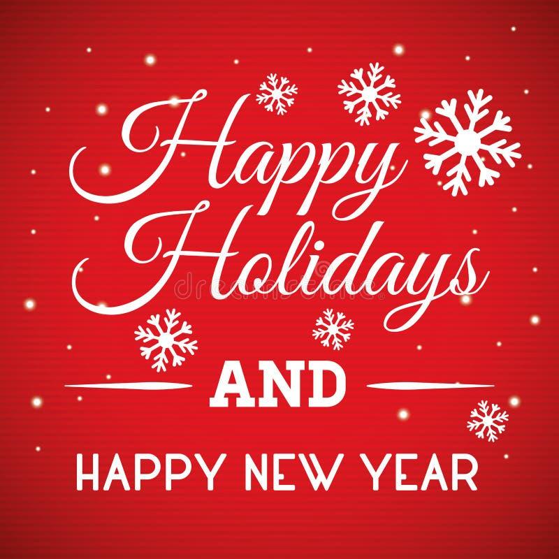 Καλές διακοπές και κάρτα Χαρούμενα Χριστούγεννας στοκ φωτογραφία