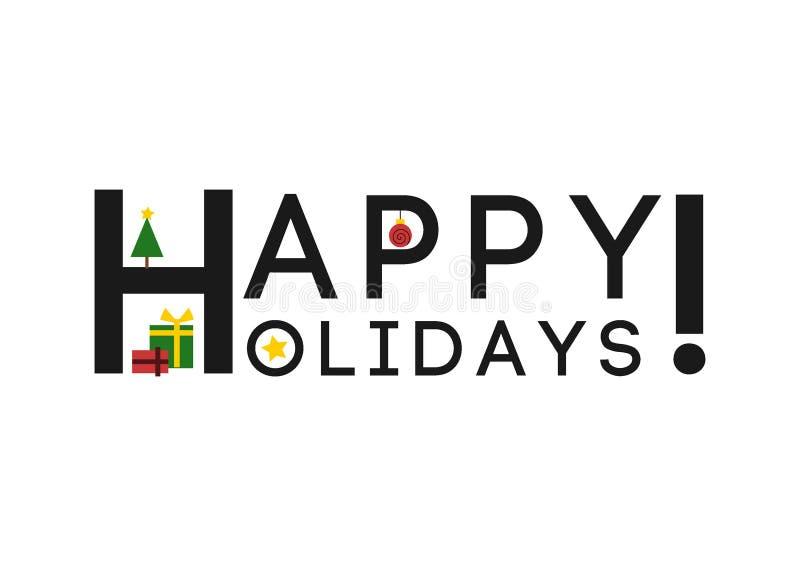Καλές διακοπές! - (Χριστούγεννα) ευχετήρια κάρτα/υπόβαθρο ελεύθερη απεικόνιση δικαιώματος