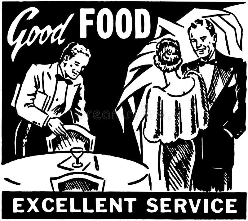 Καλή άριστη υπηρεσία τροφίμων ελεύθερη απεικόνιση δικαιώματος