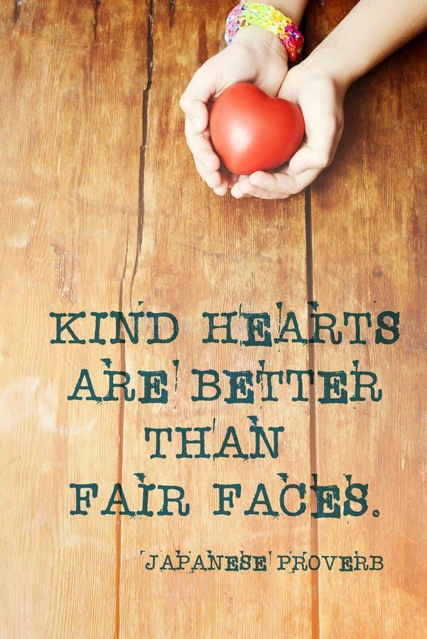 Καλή παροιμία καρδιών στοκ εικόνα