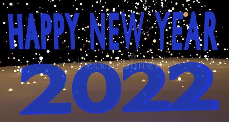Καλή χρονιά 2022 στοκ εικόνες με δικαίωμα ελεύθερης χρήσης