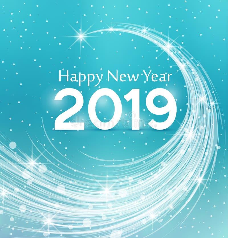 Καλή χρονιά 2019 απεικόνιση αποθεμάτων