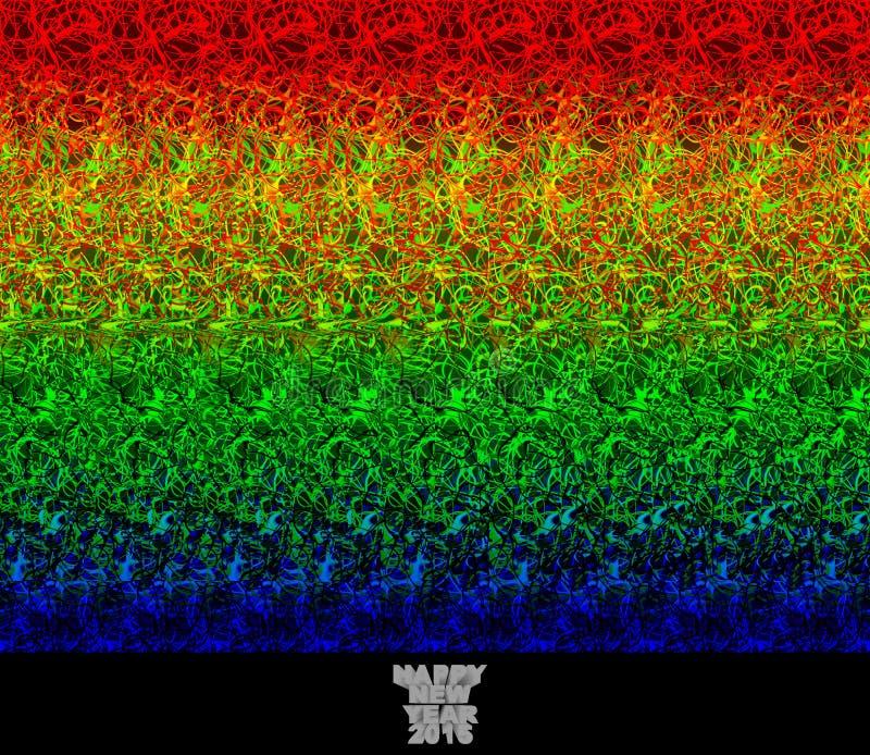 Καλή χρονιά 2015 - stereogram απεικόνιση αποθεμάτων