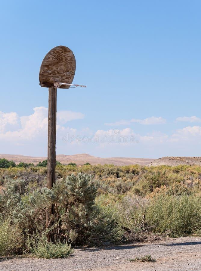 Καλαθοσφαίριση ερήμων στοκ φωτογραφία