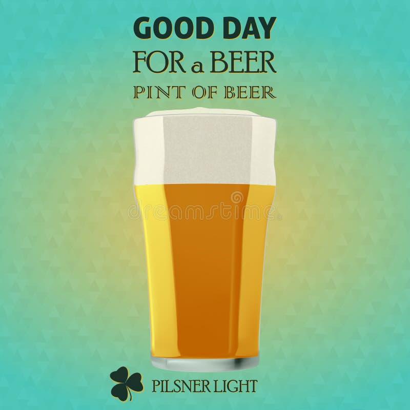 Καλημέρα για μια μπύρα - Pilsner φως ελεύθερη απεικόνιση δικαιώματος