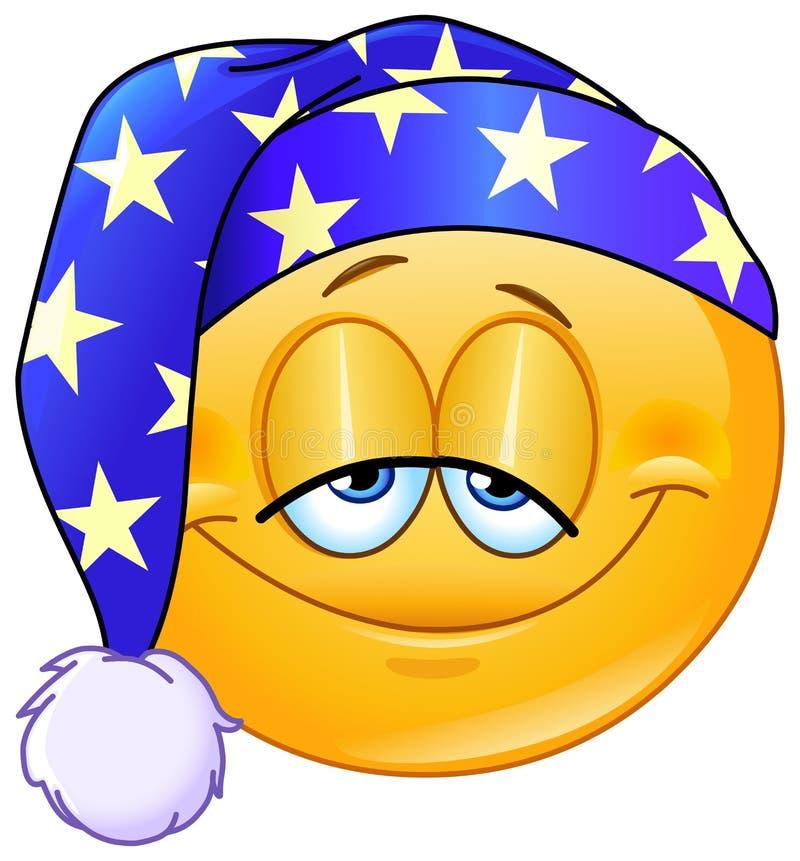 Καληνύχτα emoticon ελεύθερη απεικόνιση δικαιώματος
