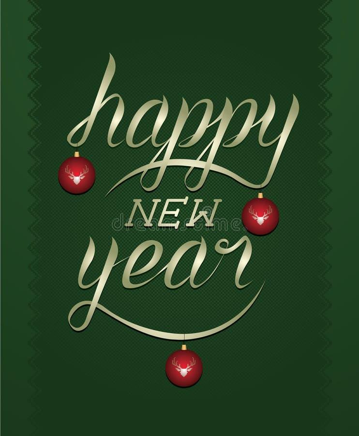καλλιγραφία καλή χρονιά στοκ εικόνες