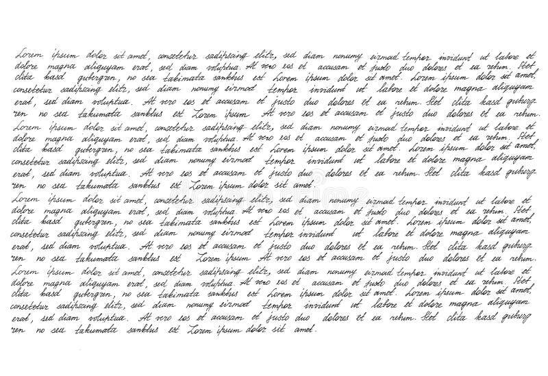 Καλλιγραφική χειρόγραφη σύσταση χειρογράφων γραφής χειρογράφων στοκ φωτογραφίες