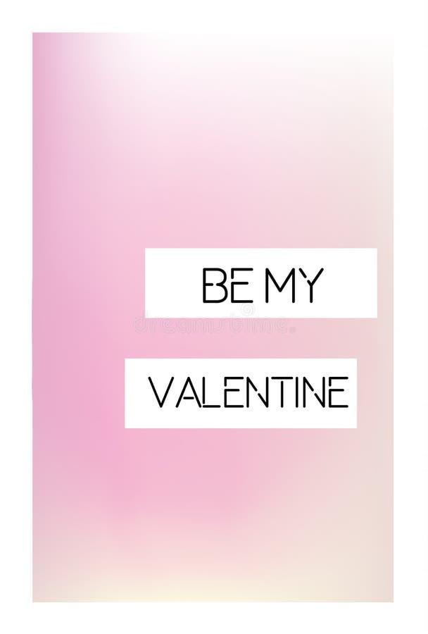 Καλλιτεχνική δημιουργική κάρτα ημέρας βαλεντίνων του ST Το μαλακό υπόβαθρο και το ρομαντικό μήνυμα κειμένου είναι ορυχείο διανυσματική απεικόνιση