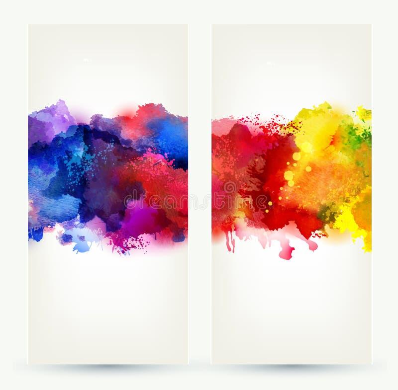 Καλλιτεχνικοί λεκέδες διανυσματική απεικόνιση