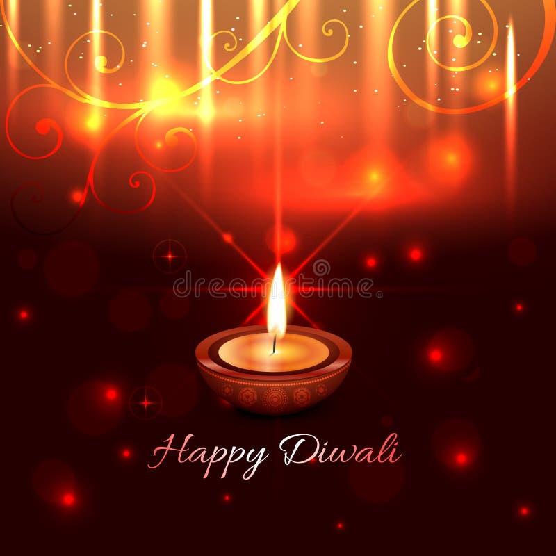 Καλλιτεχνικό σχέδιο του diya diwali ελεύθερη απεικόνιση δικαιώματος
