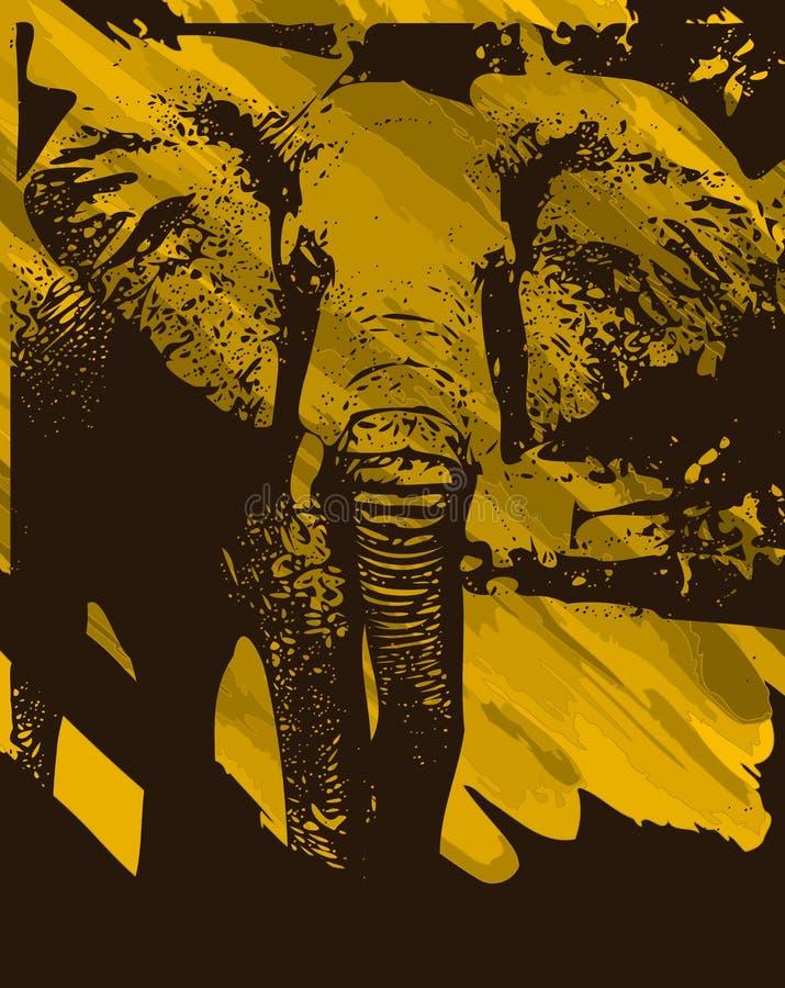 Καλλιτεχνικό υπόβαθρο ελεφάντων απεικόνιση αποθεμάτων