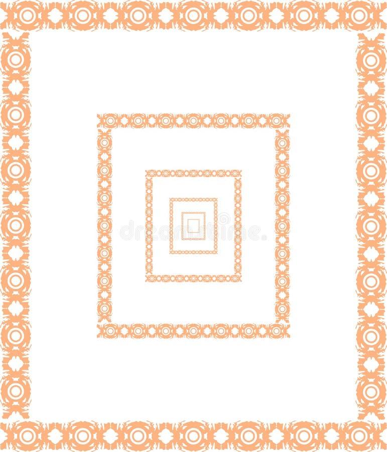 Καλλιτεχνικό υπόβαθρο με τα πλαίσια διανυσματική απεικόνιση