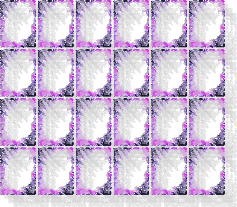 Καλλιτεχνικό υπόβαθρο στις σκιές του μπλε διανυσματική απεικόνιση