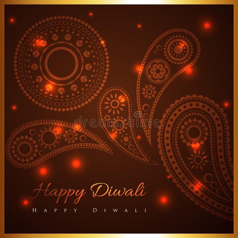 Καλλιτεχνικό υπόβαθρο του diwali απεικόνιση αποθεμάτων