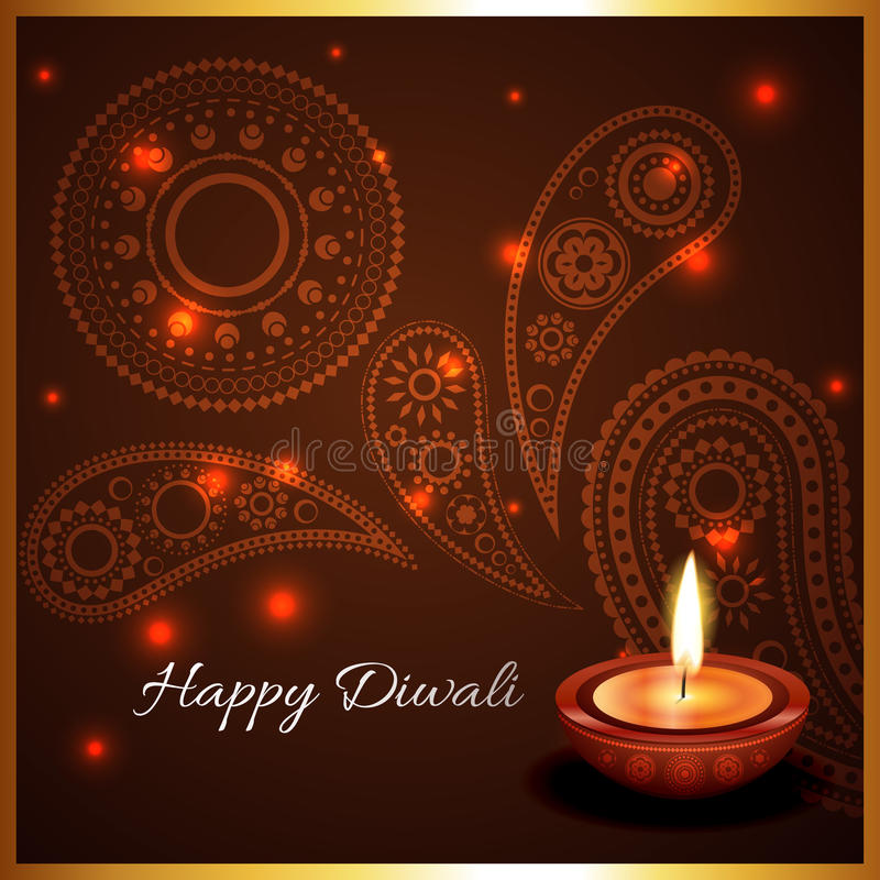 Καλλιτεχνικό υπόβαθρο του diya diwali ελεύθερη απεικόνιση δικαιώματος
