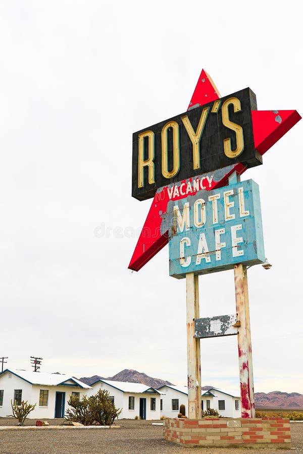 Καλιφόρνια, το σημάδι μοτέλ του Roy ` s στοκ φωτογραφίες με δικαίωμα ελεύθερης χρήσης