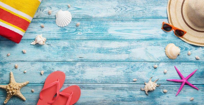 Καλοκαίρι, διακοπές, εξαρτήματα παραλιών στοκ φωτογραφία