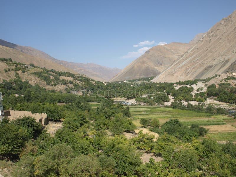 Καλοκαίρι στην κοιλάδα Panjshir, Αφγανιστάν στοκ εικόνα