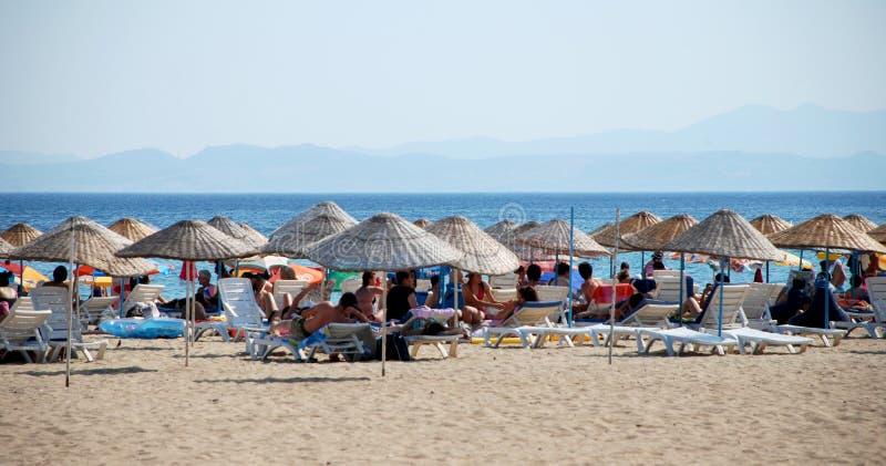 Καλοκαίρι στην παραλία σε Sarimsakli, Τουρκία στοκ φωτογραφία