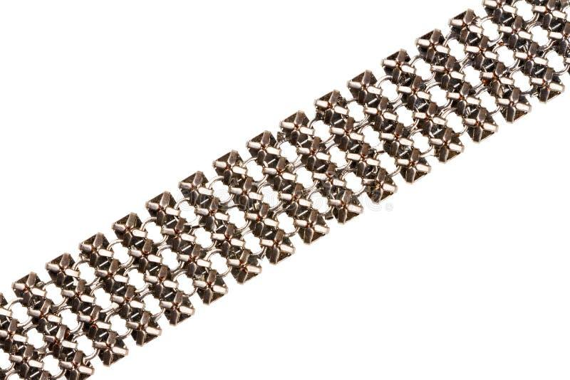 Καλυμμένη ασήμι λεπτομέρεια αλυσίδων στοκ εικόνες