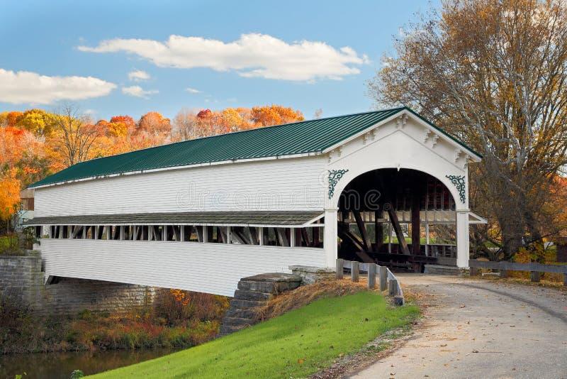 Καλυμμένη γέφυρα σε Westport στοκ εικόνες με δικαίωμα ελεύθερης χρήσης