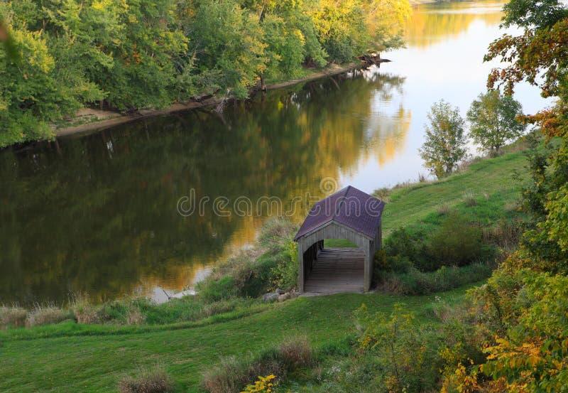 Καλυμμένη γέφυρα στοκ φωτογραφίες