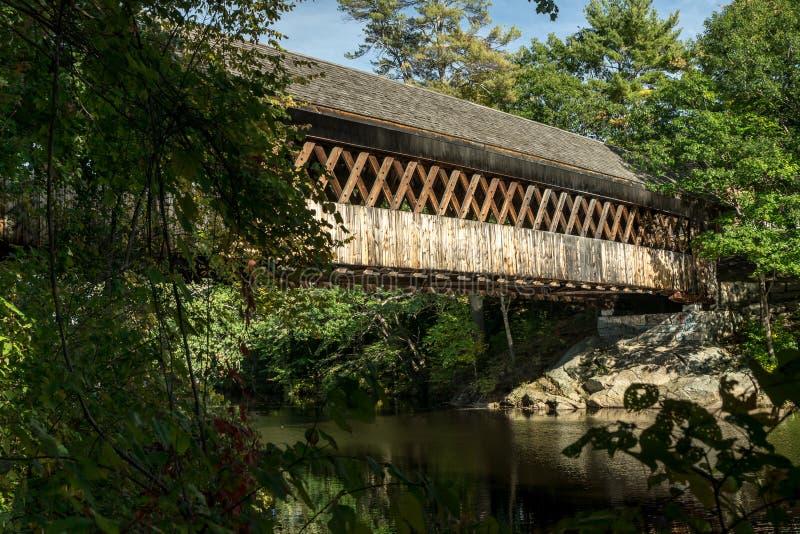 Καλυμμένη το Νιού Χάμσαιρ γέφυρα στοκ εικόνα