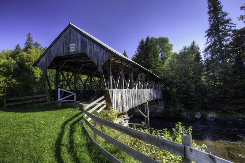 Καλυμμένη Clarksville γέφυρα στο Νιού Χάμσαιρ στοκ φωτογραφίες με δικαίωμα ελεύθερης χρήσης
