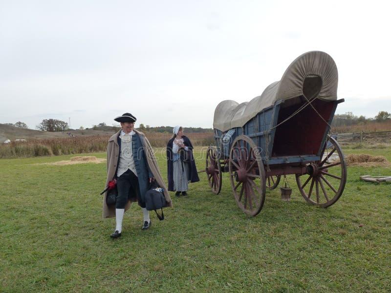 Καλυμμένο βαγόνι εμπορευμάτων-ίχνος της ιστορίας στοκ φωτογραφίες με δικαίωμα ελεύθερης χρήσης