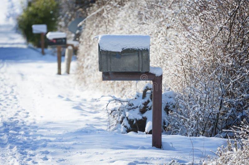 καλυμμένο χιόνι ταχυδρομ&i στοκ εικόνες