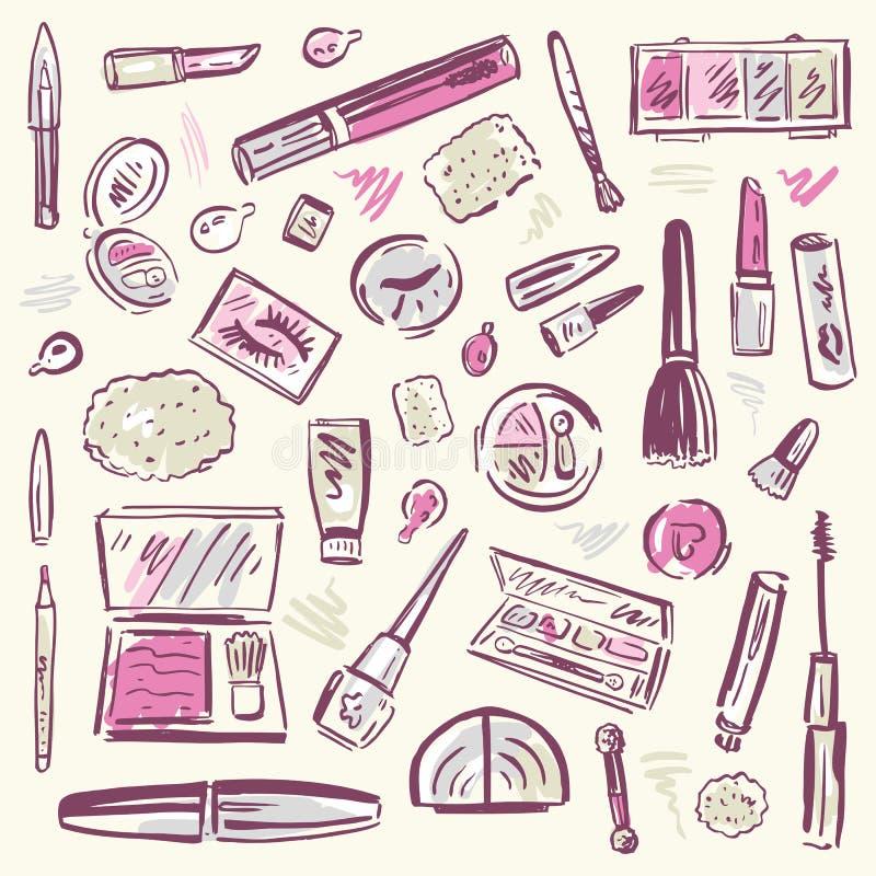 Καλλυντικά.  Σύνολο Makeup. ελεύθερη απεικόνιση δικαιώματος