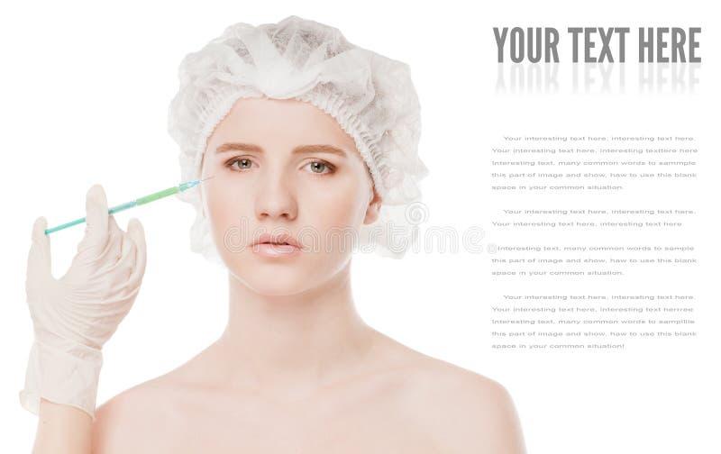 Καλλυντική έγχυση botox στο πρόσωπο στοκ φωτογραφίες με δικαίωμα ελεύθερης χρήσης
