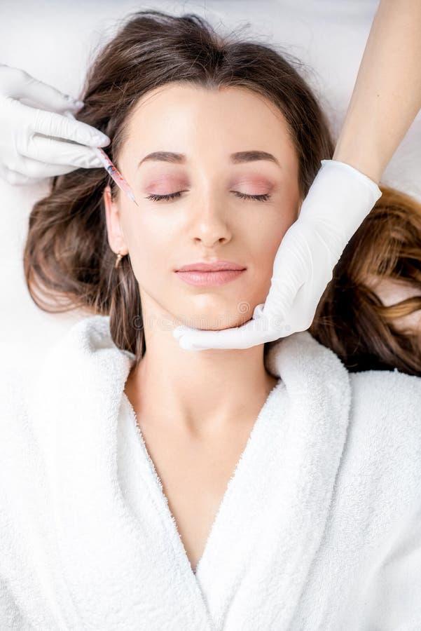 Καλλυντική έγχυση botox στοκ φωτογραφίες