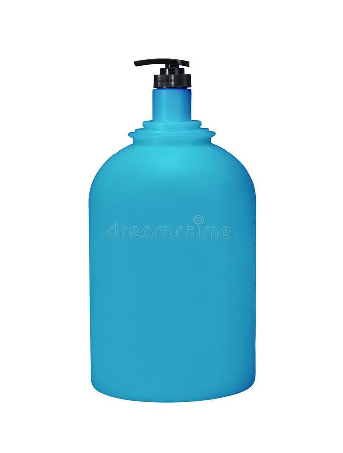 Καλλυντικό αντλιών διανομέων ή μπλε, πλαστικό μπουκάλι υγιεινής του πηκτώματος στοκ εικόνες με δικαίωμα ελεύθερης χρήσης