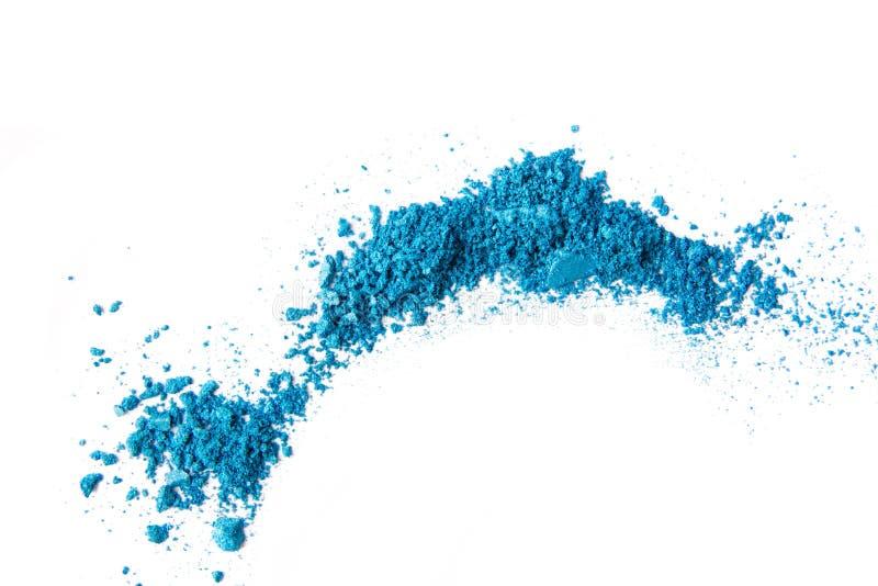 Καλλυντικό διεσπαρμένο σκόνη διάστημα αντιγράφων σκιάς ματιών διάφορο σύνολο που απομονώνεται στο άσπρο υπόβαθρο Η έννοια της μόδ στοκ εικόνες