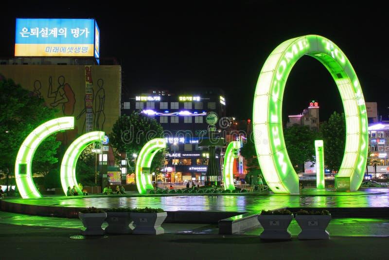 Καλωσορίστε σε Busan στοκ φωτογραφία με δικαίωμα ελεύθερης χρήσης