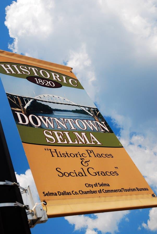 Καλωσορίστε σε Selma Αλαμπάμα στοκ φωτογραφίες με δικαίωμα ελεύθερης χρήσης