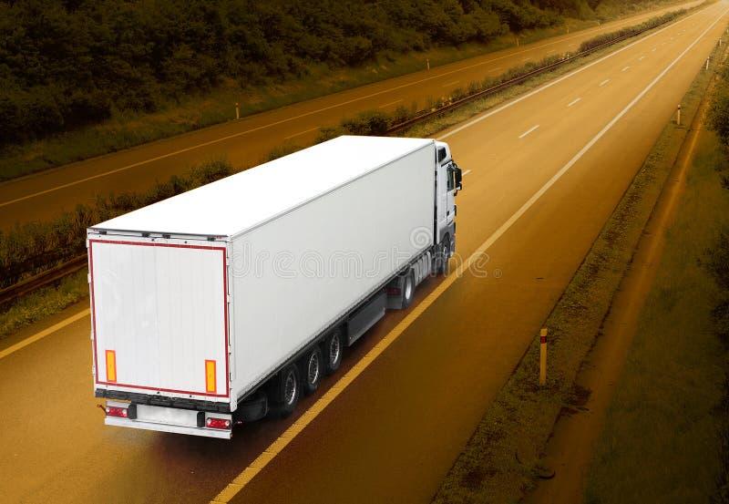 καλό λευκό truck αρχείων διαφημίσεων στοκ εικόνες με δικαίωμα ελεύθερης χρήσης